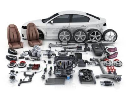 Bildelar för utbildning av personbilstekniker